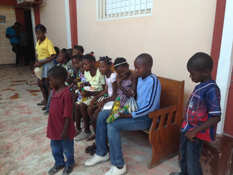 These are children whom the team touched during outreach